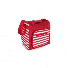 Bolsa Nevera Rectangular Rayas Rojo