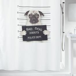 Spirella Bad Dog Cortina de Ducha Textil 180 X 180 100% Polyester Negro