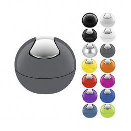 Spirella Bowl Papelera Con Pedal 16 X 14 Cm (1 Litro) Poliestireno Gris