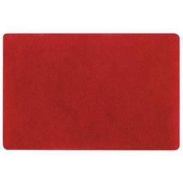 Spirella Colección Fino  Alfombrilla de Baño  100% Poliéster y Microfibra Rojo