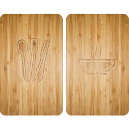 Tablas de Vidrio Para Cocinas 2 Pzas. 30X52 Lunch Wenko