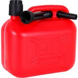 Tanque Gasolina 5L C/doble Tubo Flexible y Medidor Visible
