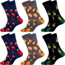 Set 6Pcs Calcetines de Vestir Crazy Socks