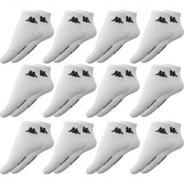 Set 12 Pares - Calcetines Invisible Kappa - Unisex - Blanco