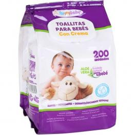 Toallita Bebe Crema 200 Unds C/tapa