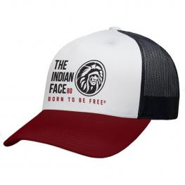 Gorra The Indian Face Free Soul Blanco, Rojo y Negro