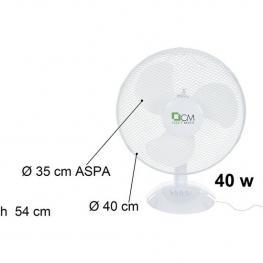 Ventilador de Mesa de 40W Blanco