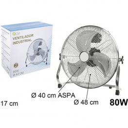 Ventilador Industrial Suelo 80W 40Cm