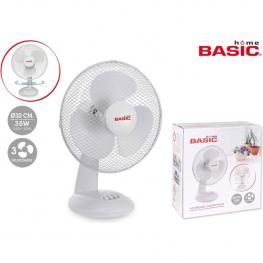 Ventilador Sobremesa 30Cm 35W/ 3 Velocidades Basic Home