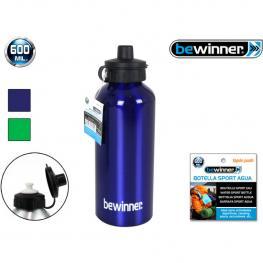 Botella Sport Agua Aluminio Push 600Ml