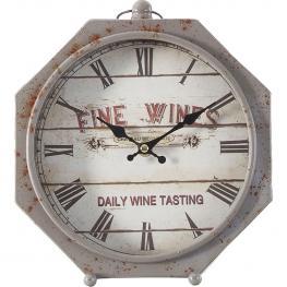 Reloj Metal Fine Wines