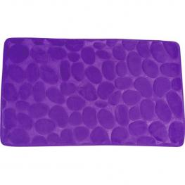 Alfombra de Baño Msv de Espuma Con Efecto Piedras En Color Violeta 50 X 80 Cm