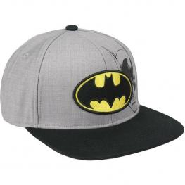 Gorra Visera Plana Batman Gris