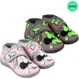 Zapatillas de Casa Media Bota Minnie - Rosa - Talla 26