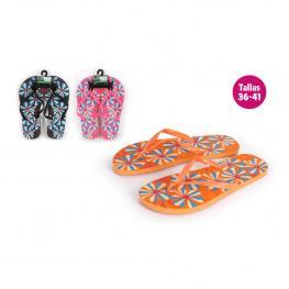 Zapatillas Playa Diseño Hippie Rosa Talla 40