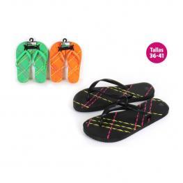 Zapatillas Playa Diseño Líneas Naranja