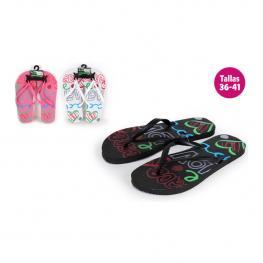 Zapatillas Playa Diseño Love Rosa