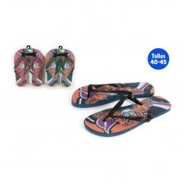Zapatillas Playa Diseño Tigre Azul Talla 41