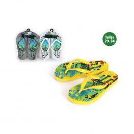 Zapatillas Playa Niños Robot Amarillas