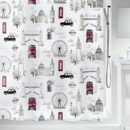 Cortina de Ducha Textil -London-