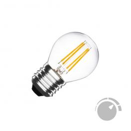 Bombilla Led E27 Cob Filamento 4W, Small Regulable, Blanco Cálido 2700K, Regulable