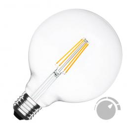 Bombilla Led E27 Cob Filamento 8W, ø125X176Mm, Regulable, Blanco Cálido, Regulable