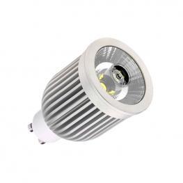 Bombilla Led Gu10-Cob, Aluminio, 7W, Blanco Frío