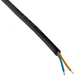 Cable Redondo 2X1Mm, 1M, Negro