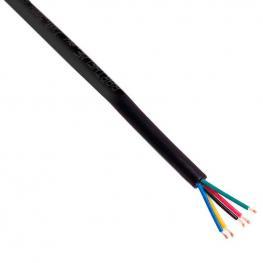 Cable Redondo de Conexión Para Tiras Led Rgbw 5X0,50Mm, 1 Metro