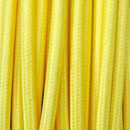 Cable Textil Redondo 2X0,75Mm, 1M, Amarillo