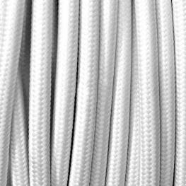Cable Textil Redondo 2X0,75Mm, 1M, Blanco