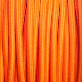 Cable Textil Redondo 2X0,75Mm, 1M, Naranja