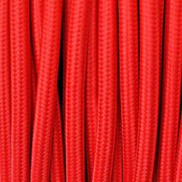 Cable Textil Redondo 2X0,75Mm, 1M, Rojo
