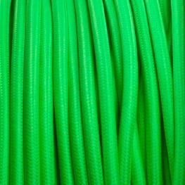 Cable Textil Redondo 2X0,75Mm, 1M, Verde
