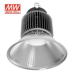 Campana Led Industrial 250W, Chip Led Osram + Meanwell Driver, Blanco Frío