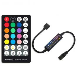 Controlador Rf Mini Tira Led Rgbw + Mando