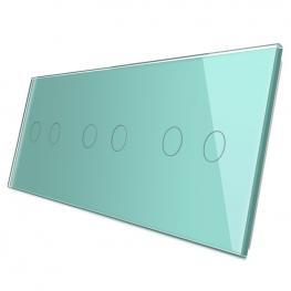 Frontal 3X Cristal Verde, 6 Botones