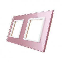 Frontal Cristal Rosa 2X Huecos