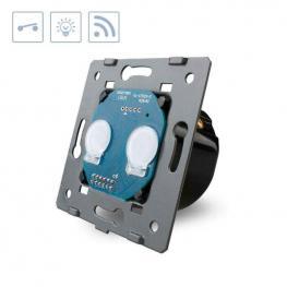 Interruptor Táctil Doble + Remoto