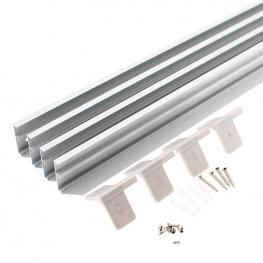 Kit Marco Silver Para Instalar Panel Led 30X120Cm En Superficie