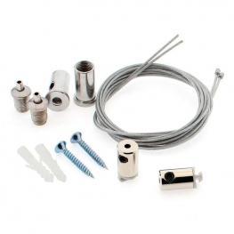 Kit Para Colgar Perfiles, 2 Cables de Suspensión Krob 1M