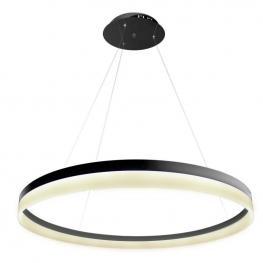 Lámpara Colgante Ring 73W, Negro, ø100Cm, Blanco Neutro