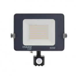 Proyector Led Chipled Osram Pro, 50W Con Sensor Movimiento Pir, Blanco Neutro