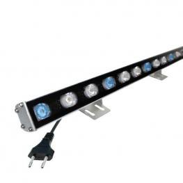Proyector Led Lineal, 2Blanco +1Azul, 24W, 220V, 1M, Blanco Azul