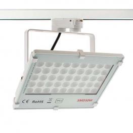 Proyector Led Para Carril Monofásico Tablet Rail Epistar, 50W, Blanco Neutro