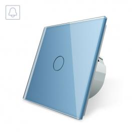 Pulsador Timbre Táctil, Frontal Azul