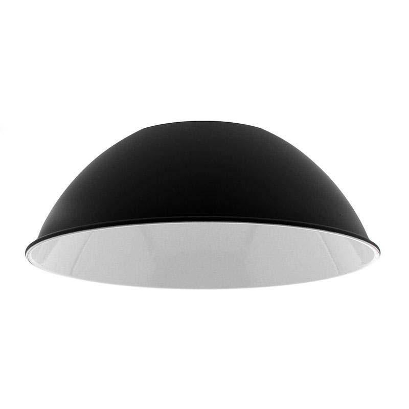 Reflector Aluminio 90º Para Lámpara Industrial, Ø174Mm, Negro