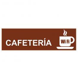 Señal de Cafetería. Señalética Sl58 Para Biglux