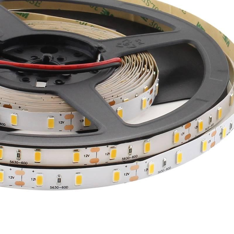 Tira Led Monocolor Hq Smd5630, Chipled Samsung, Dc12V, 5M (60Led/m) - Ip20, Blanco Frío