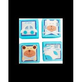 2 X 1 Set 24 Cajitas Baby Azul Surtidas